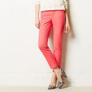Antro Cartonnier Pants Ankle Cropped Coral Pink